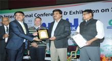 Lavasa city Manager Mr. Mukund Rathi receiving the award.